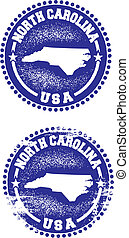 North Carolina USA Stamps - A couple of distressed stamps...