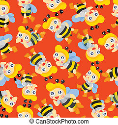 cartoon bee boy seamless pattern
