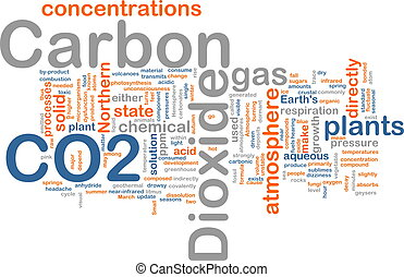 Carbon dioxide background concept - Background concept...