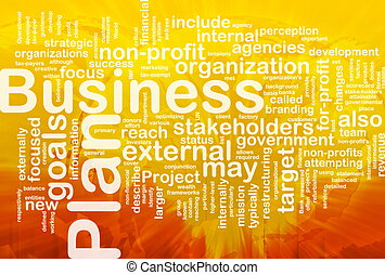 Business plan word cloud - Word cloud concept illustration...