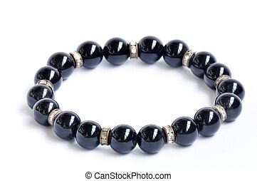 pulsera, negro, perlas