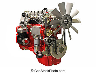 diesel engine - Close up shot of turbo charged diesel engine
