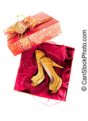 Pair of shoes in box