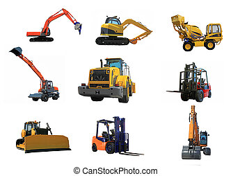 set of a building machines - Different building cars...