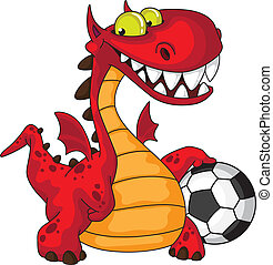 dragon and ball - illustration of a dragon and ball