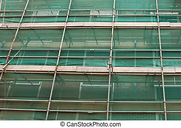 scaffolding - close up of scaffolding