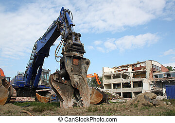 Construction demolition - Demolition of building with heavy...