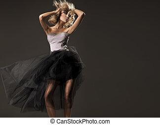 Sensual blond beauty posing