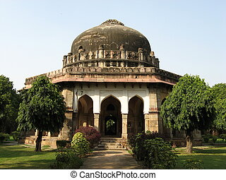 Temples in Lodi garden in New Delhi, India