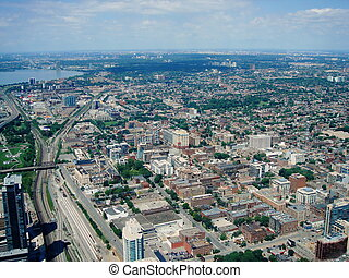 Toronto, Canada - Aerial view of Toronto city from the CN...
