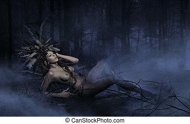 bosque, ninfa