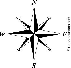 wind rose - vector of wind rose