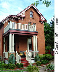 House in Gananoque, Ontario, Canada - Big red house and its...