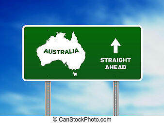 Australia Highway Sign