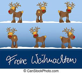 xmas card Frohe Weihnachten