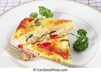 Espanhol, omelete, Porções
