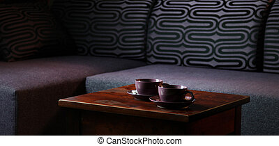 Nice photo of table with two cups