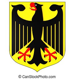 Germany coat of arms Isolated on white background.
