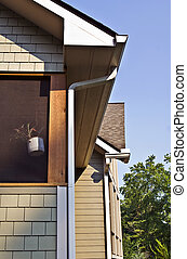 Architecturea Detail Gutters - Close up of the side of a...