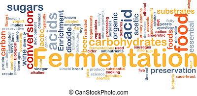 Fermentation process background concept