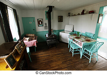 heritage lighthouse - interior of a Canadian heritage...
