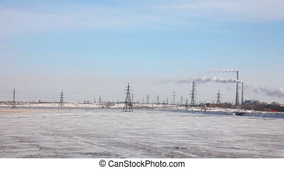 Power station. - Power coal station near Karaganda,...
