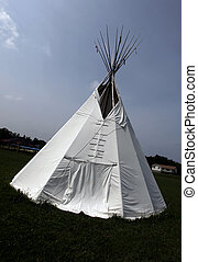 white tipi - native canadian white tipi