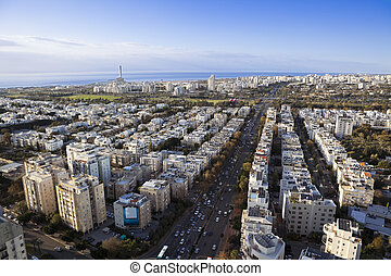 Cityscape - Tel Aviv  skyline / Aerial view of  Tel Aviv