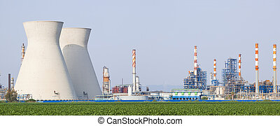 Nuclear power station - Panorama of power station /...