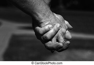 holding hands - couple in love holding hands