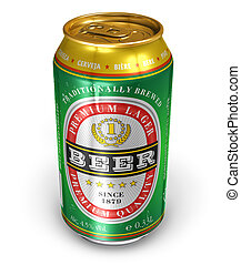 Beer can isolated on white background *** NOTE FOR EDITOR...