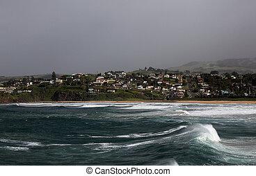 ocean view along the shore