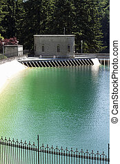 Thirst Quenching Supply - Green blue water outdoor man-made...