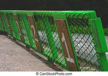 bmx race track starting gate - Image showing the numbered...