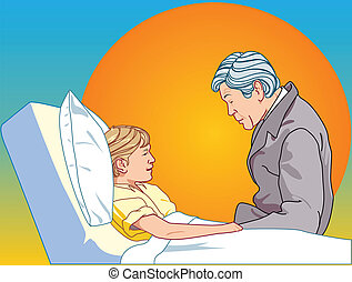 Man about be sick child - There are man about be sick child