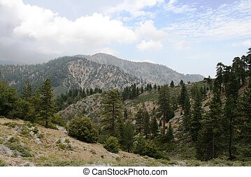 PCT Mt. Williamson - View from the Pacific Crest Trail on...