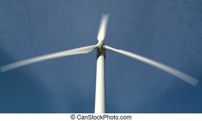 Single wind turbine - Wind turbine medium close up