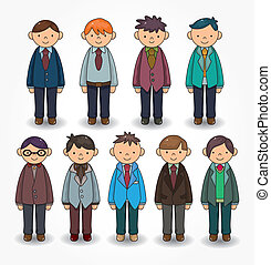 cartoon charming young man icon