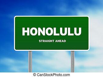Honolulu Highway  Sign