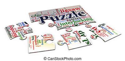 3d puzzle wordcloud