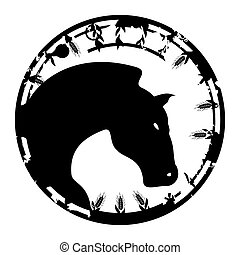Stamp a horse