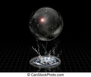 Crystal Sphere and splash