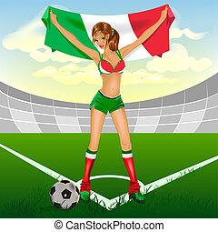Italy girl soccer fan