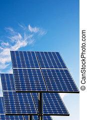 太陽, 綠色, 技術, 面板