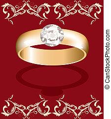 vector golden ring
