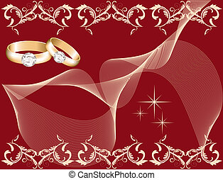 wedding theme with golden rings