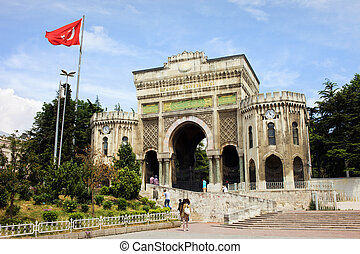 Istanbul University Main Gate - Historical main gate to the...