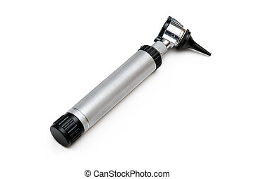 Otoscope - An otoscope on white background