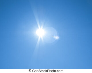 sun lens flare - An image of a sun lens flare background