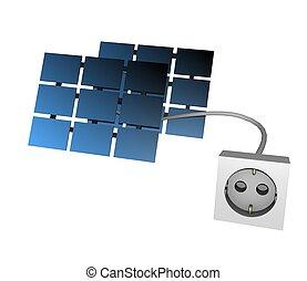 3d solar plug